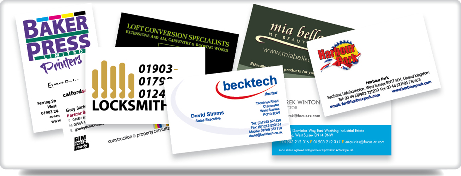 Baker press worthing business cards leaflets flyers business cards reheart Choice Image