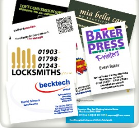 Baker Press Business Cards