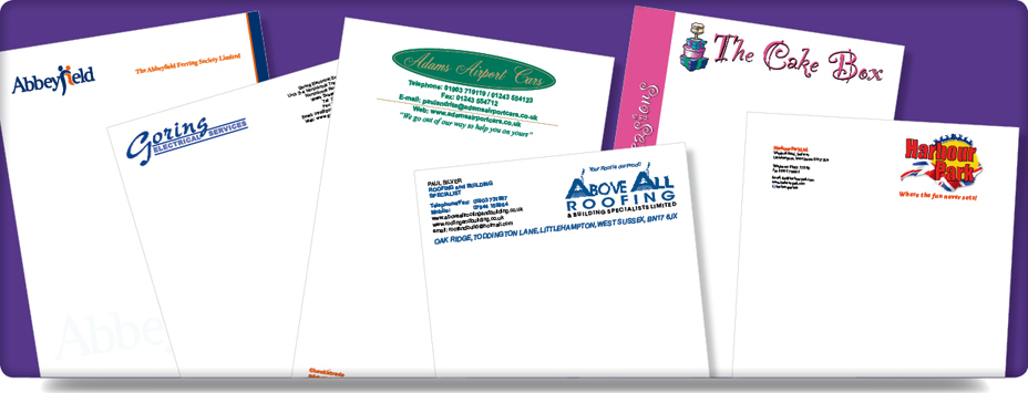 Stationery Letterheads Comp Compliments Slips Worthing Sussex